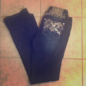 Miss Me Bootcut Jeans Sequins/jewels